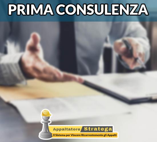 Prima Consulenza – Confrontati con un Esperto per Evolvere il tuo Reparto Gare