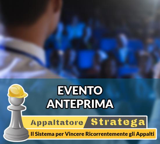 "Evento ""Anteprima Appaltatore Stratega"" 12/02/2021"